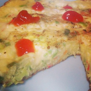 Cheese Vegetables Omelette