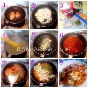 Step by Step Spagheti bolognese